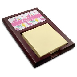 Llamas Red Mahogany Sticky Note Holder (Personalized)
