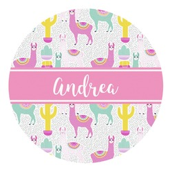 Llamas Round Decal (Personalized)