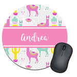 Llamas Round Mouse Pad (Personalized)