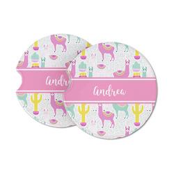 Llamas Sandstone Car Coasters (Personalized)