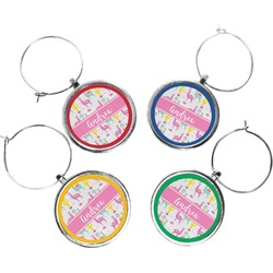 Llamas Wine Charms (Set of 4) (Personalized)