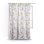 Llamas Sheer Curtains (Personalized)