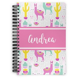 Llamas Spiral Bound Notebook (Personalized)