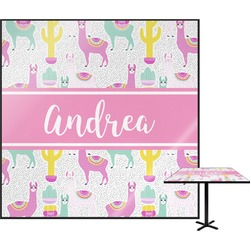 Llamas Square Table Top (Personalized)