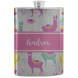 Llamas Stainless Steel Flask (Personalized)