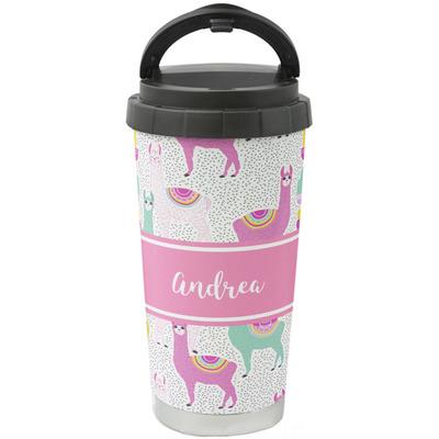Llamas Stainless Steel Travel Mug (Personalized)