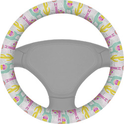 Llamas Steering Wheel Cover (Personalized)