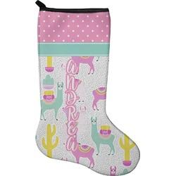 Llamas Holiday Stocking - Neoprene (Personalized)