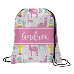 Llamas Drawstring Backpack - Small (Personalized)