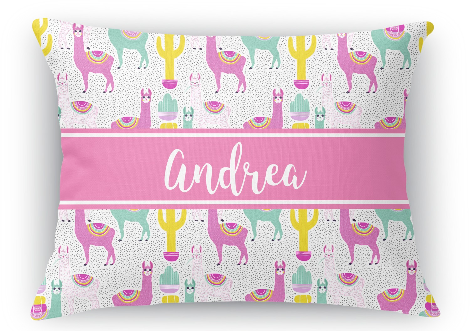 Rectangular Throw Pillow Dimensions : Llamas Rectangular Throw Pillow - 12