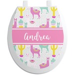 Llamas Toilet Seat Decal (Personalized)