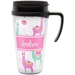 Llamas Travel Mug with Handle (Personalized)