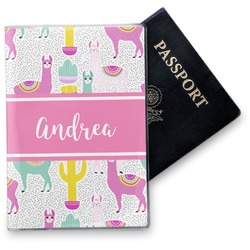 Llamas Vinyl Passport Holder (Personalized)