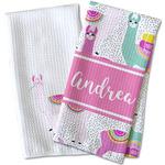 Llamas Waffle Weave Kitchen Towel (Personalized)
