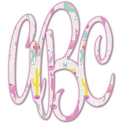 Llamas Monogram Decal - Custom Sizes (Personalized)