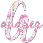 Llamas Name & Initial Decal - Custom Sized (Personalized)