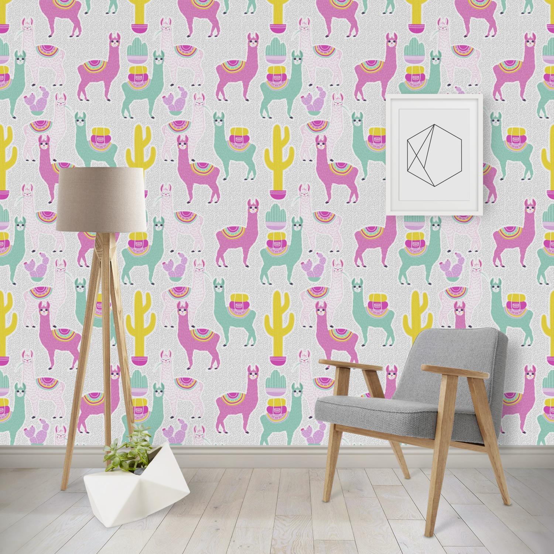 Llama Wallpaper: Llamas Wallpaper & Surface Covering (Water Activated