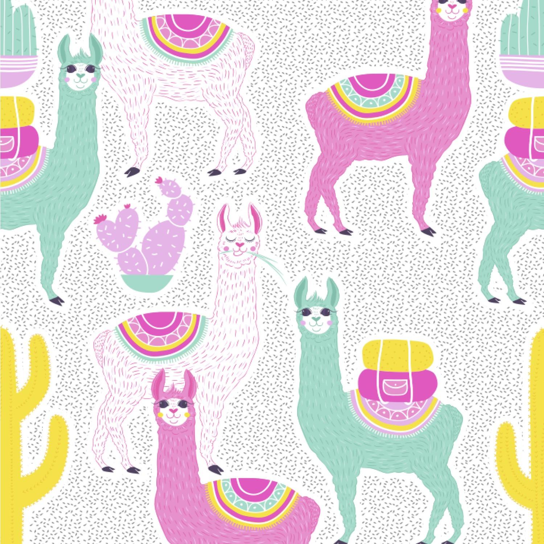 """Llama Wallpaper: Llamas Wallpaper & Surface Covering (Peel & Stick 24""""x 24"""