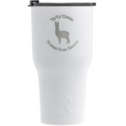 Llamas RTIC Tumbler - White (Personalized)