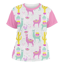 Llamas Women's Crew T-Shirt (Personalized)