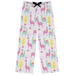 Llamas Womens Pajama Pants (Personalized)