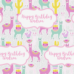 Llamas Wrapping Paper (Personalized)