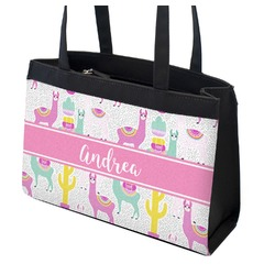Llamas Zippered Everyday Tote (Personalized)