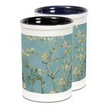 Almond Blossoms (Van Gogh) Ceramic Pencil Holder - Large
