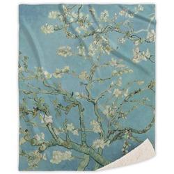 Almond Blossoms (Van Gogh) Sherpa Throw Blanket