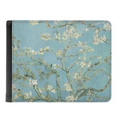 Apple Blossoms (Van Gogh) Genuine Leather Men's Bi-fold Wallet
