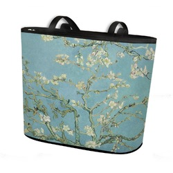 Apple Blossoms (Van Gogh) Bucket Tote w/ Genuine Leather Trim