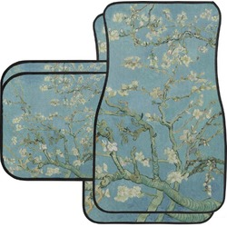 Apple Blossoms (Van Gogh) Car Floor Mats Set - 2 Front & 2 Back