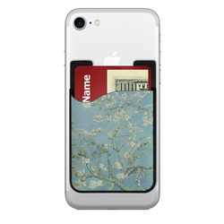 Almond Blossoms (Van Gogh) 2-in-1 Cell Phone Credit Card Holder & Screen Cleaner