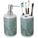 Almond Blossoms (Van Gogh) Ceramic Bathroom Accessories Set