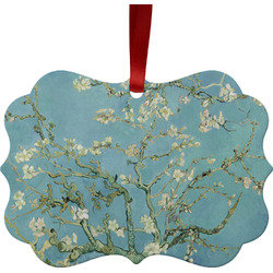 Almond Blossoms (Van Gogh) Metal Frame Ornament - Double Sided