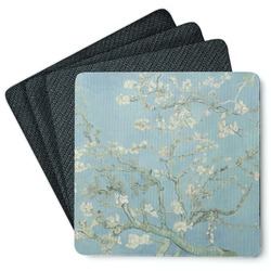 Apple Blossoms (Van Gogh) 4 Square Coasters - Rubber Backed