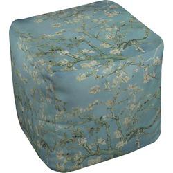 Almond Blossoms (Van Gogh) Cube Pouf Ottoman