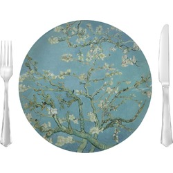 "Apple Blossoms (Van Gogh) 10"" Glass Lunch / Dinner Plates - Single or Set"