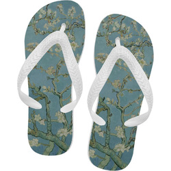 Apple Blossoms (Van Gogh) Flip Flops - XSmall