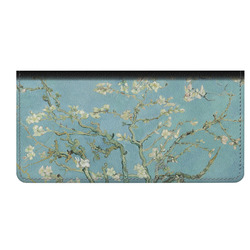 Almond Blossoms (Van Gogh) Genuine Leather Checkbook Cover