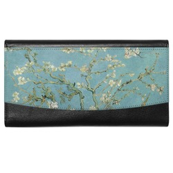 Almond Blossoms (Van Gogh) Genuine Leather Ladies Wallet