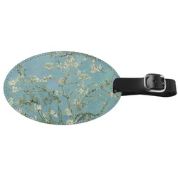 Apple Blossoms (Van Gogh) Genuine Leather Oval Luggage Tag