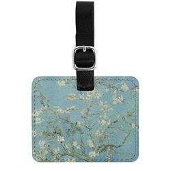 Apple Blossoms (Van Gogh) Genuine Leather Rectangular  Luggage Tag