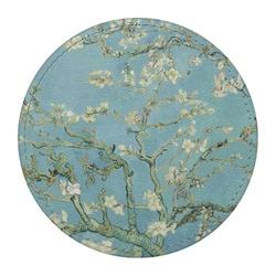 Apple Blossoms (Van Gogh) Round Desk Weight - Genuine Leather