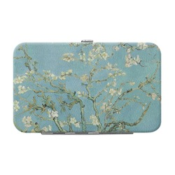 Almond Blossoms (Van Gogh) Genuine Leather Small Framed Wallet