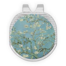Almond Blossoms (Van Gogh) Golf Ball Marker - Hat Clip - Silver