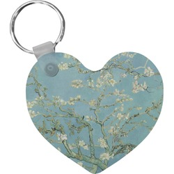Apple Blossoms (Van Gogh) Heart Keychain