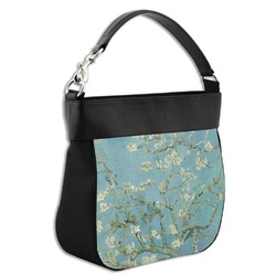 Apple Blossoms (Van Gogh) Hobo Purse w/ Genuine Leather Trim