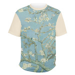 Almond Blossoms (Van Gogh) Men's Crew T-Shirt