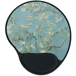 Apple Blossoms (Van Gogh) Mouse Pad with Wrist Support